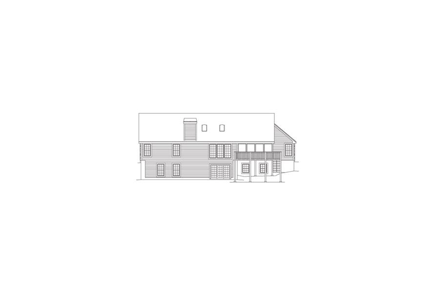 138-1078: Home Plan Rear Elevation