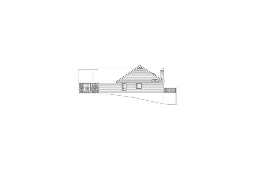 138-1078: Home Plan Right Elevation