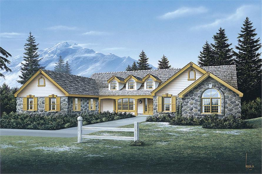 4-Bedroom, 2758 Sq Ft Ranch Home Plan - 138-1078 - Main Exterior