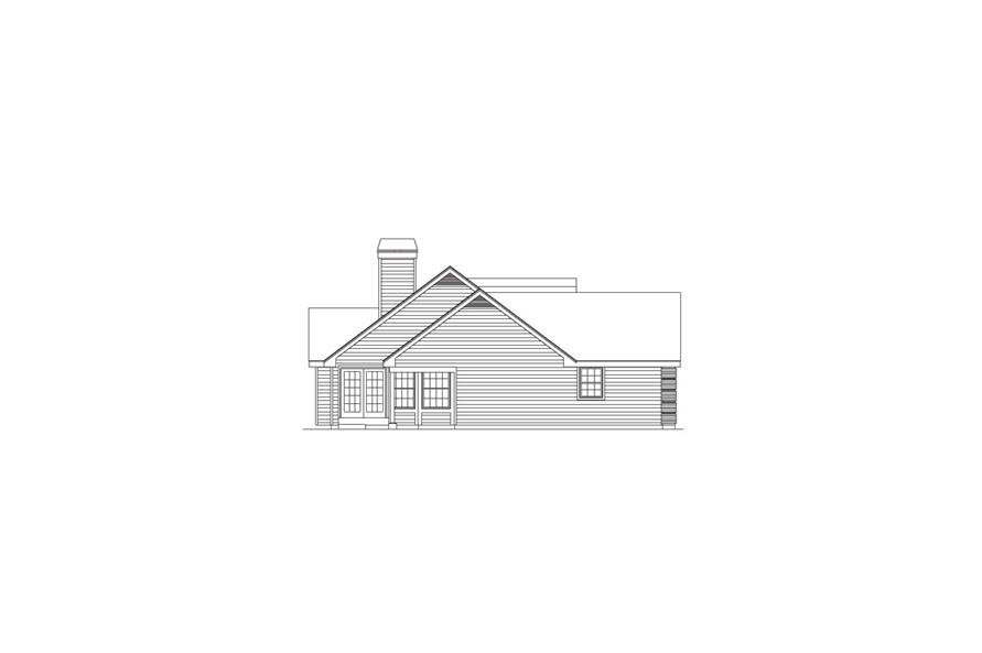 138-1079: Home Plan Left Elevation