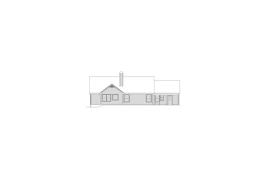 138-1079: Home Plan Rear Elevation