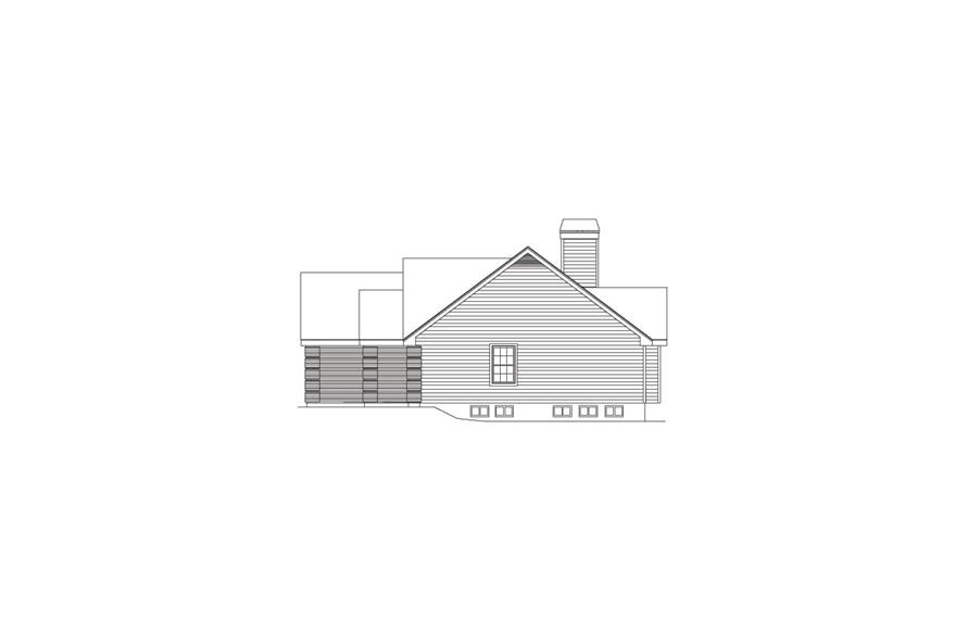 138-1079: Home Plan Right Elevation