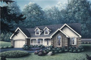 Front elevation of Ranch home (ThePlanCollection: House Plan #138-1079)