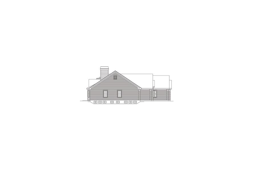 138-1080: Home Plan Left Elevation