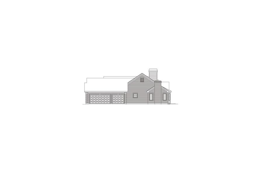 138-1080: Home Plan Right Elevation