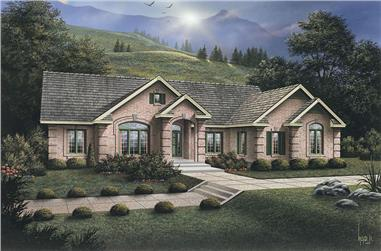 3-Bedroom, 2723 Sq Ft Ranch House Plan - 138-1080 - Front Exterior
