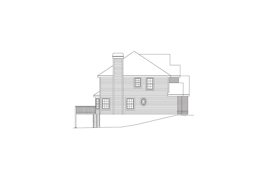 138-1081: Home Plan Left Elevation