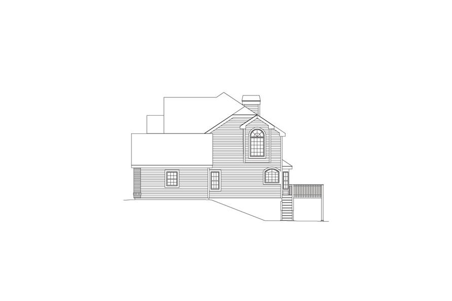 138-1081: Home Plan Right Elevation