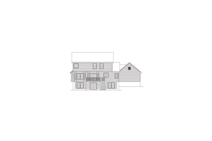 138-1082: Home Plan Rear Elevation