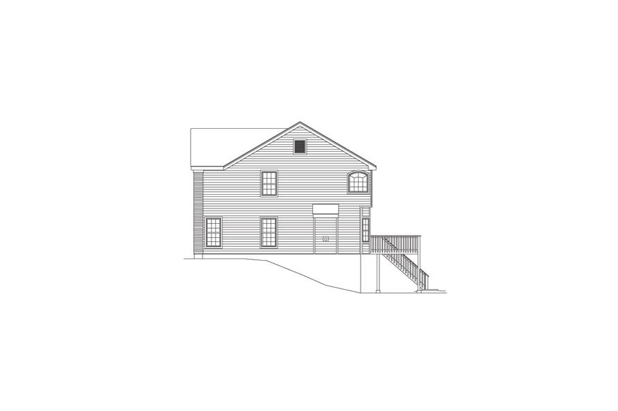 138-1082: Home Plan Right Elevation