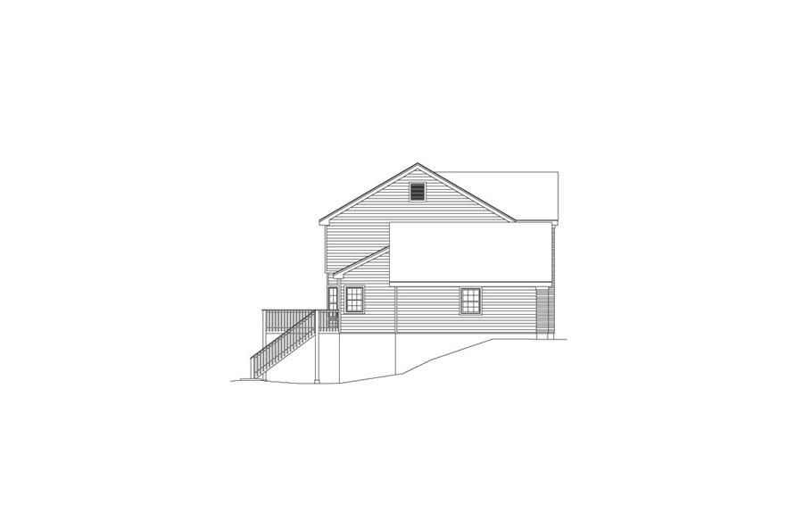 138-1082: Home Plan Left Elevation