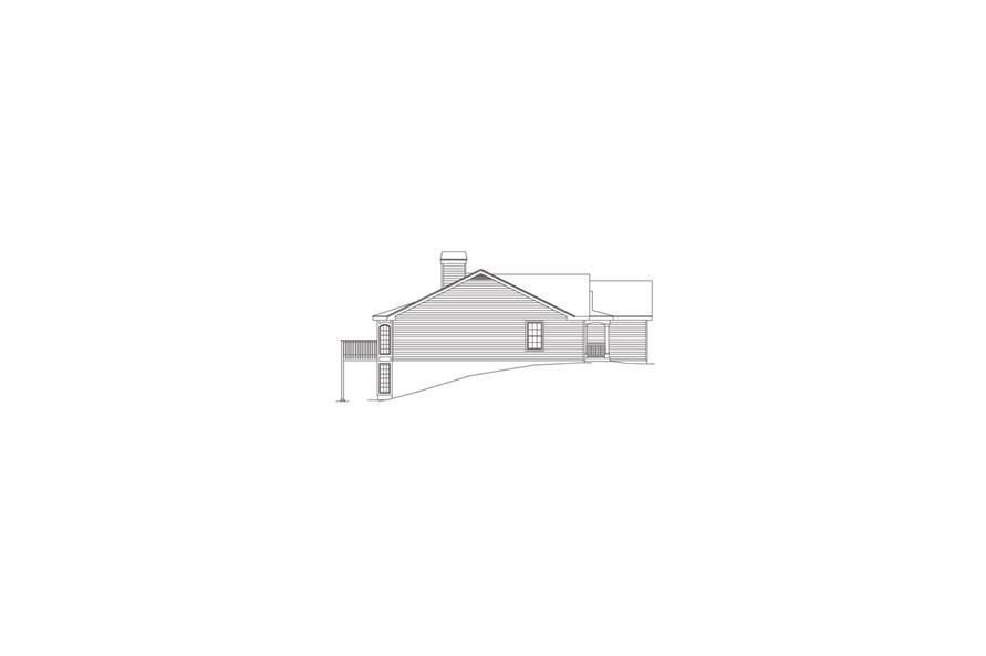 138-1083: Home Plan Left Elevation