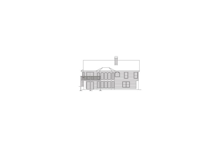 138-1083: Home Plan Rear Elevation