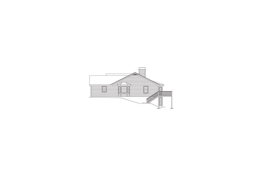 138-1083: Home Plan Right Elevation