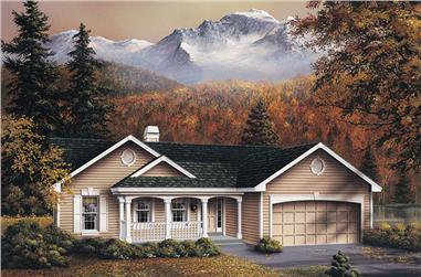 3-Bedroom, 2432 Sq Ft Ranch Home Plan - 138-1083 - Main Exterior