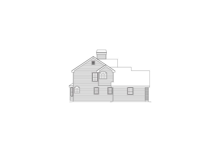 138-1084: Home Plan Left Elevation
