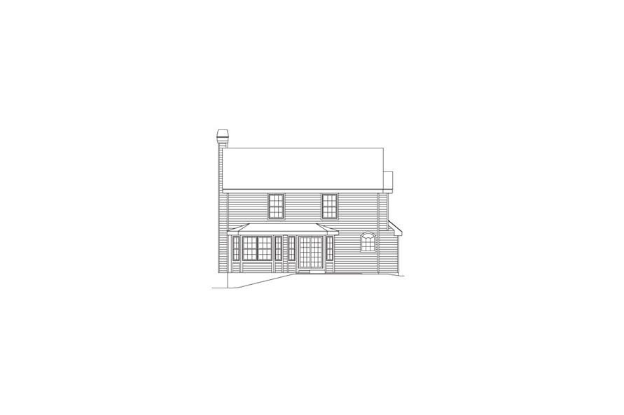 138-1084: Home Plan Rear Elevation