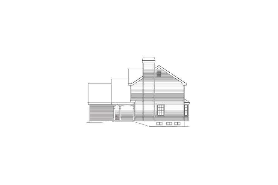 138-1084: Home Plan Right Elevation
