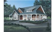 Front elevation of Country home (ThePlanCollection: House Plan #138-1085)
