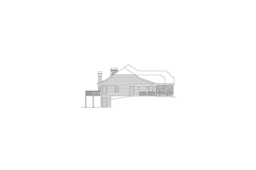 138-1086: Home Plan Left Elevation
