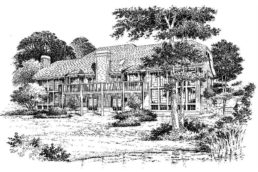 138-1086: Home Plan Rendering