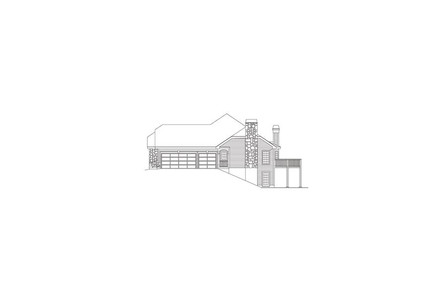 138-1086: Home Plan Right Elevation