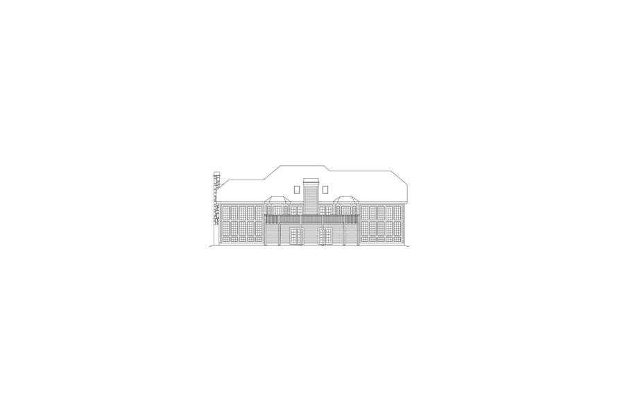138-1086: Home Plan Rear Elevation