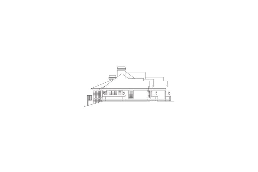 138-1088: Home Plan Left Elevation