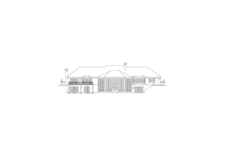 138-1088: Home Plan Rear Elevation