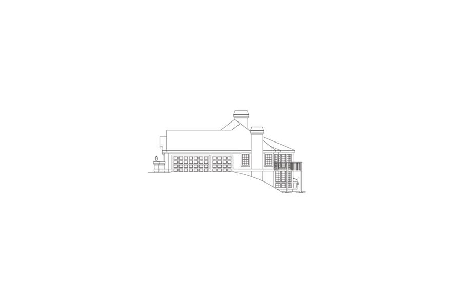 138-1088: Home Plan Right Elevation