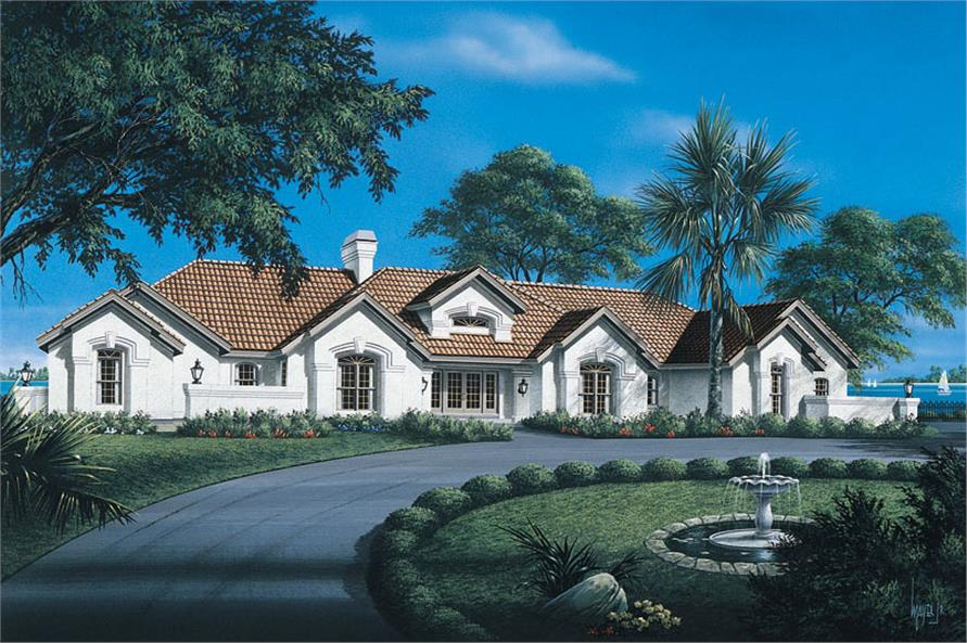 4-Bedroom, 4863 Sq Ft Luxury Home Plan - 138-1088 - Main Exterior