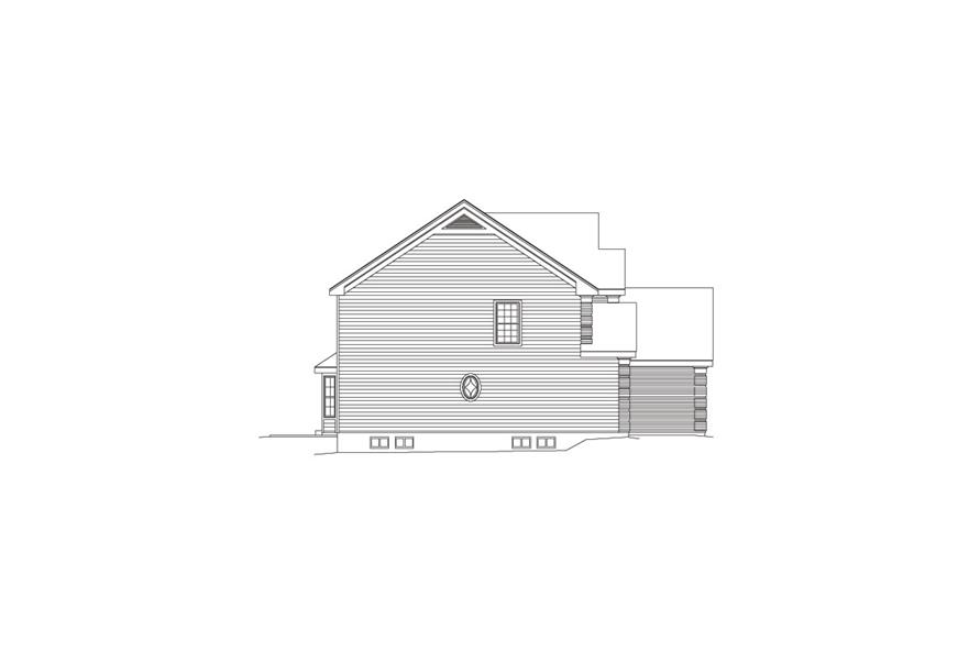 138-1089: Home Plan Left Elevation