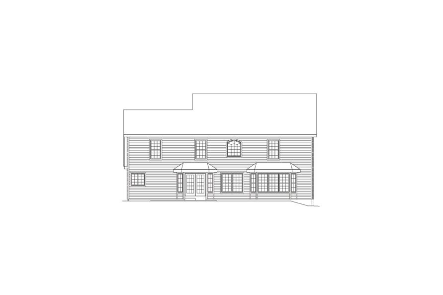 138-1089: Home Plan Rear Elevation
