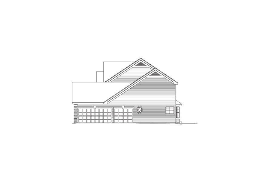 138-1089: Home Plan Right Elevation