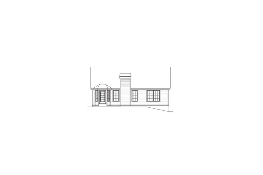 138-1090: Home Plan Rear Elevation