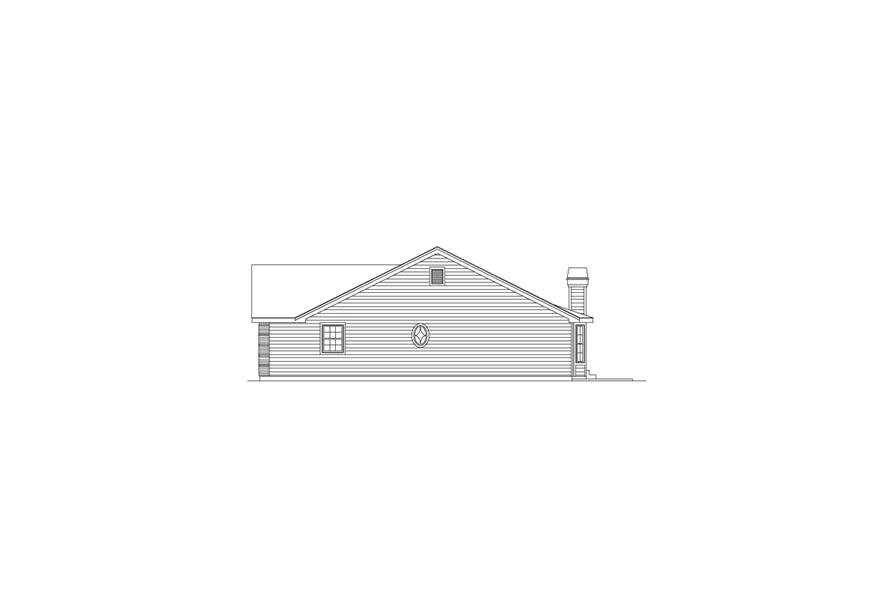 138-1090: Home Plan Right Elevation
