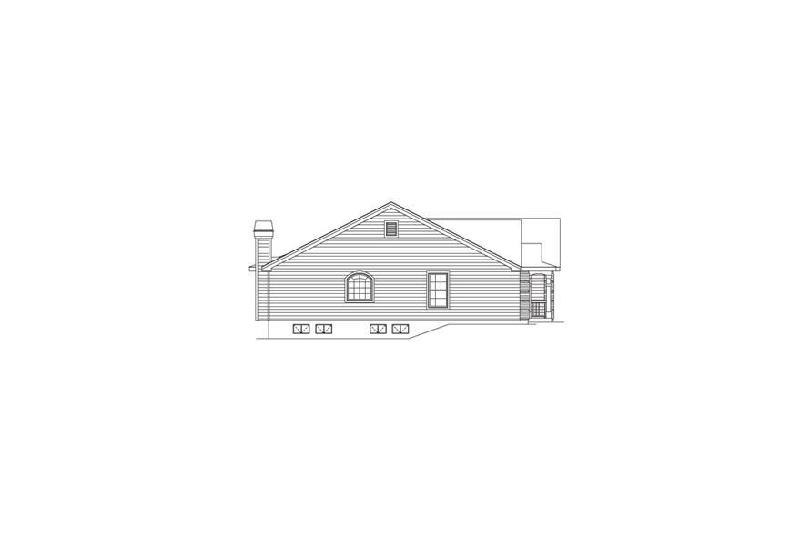 138-1090: Home Plan Left Elevation