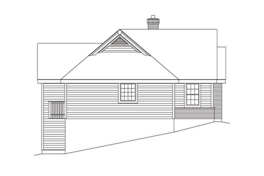 138-1091: Home Plan Left Elevation
