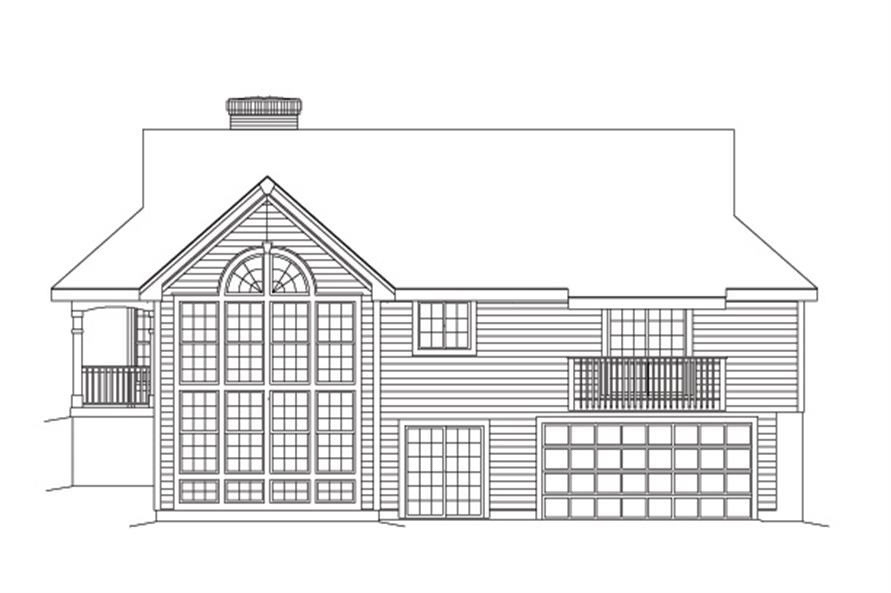 138-1091: Home Plan Rear Elevation