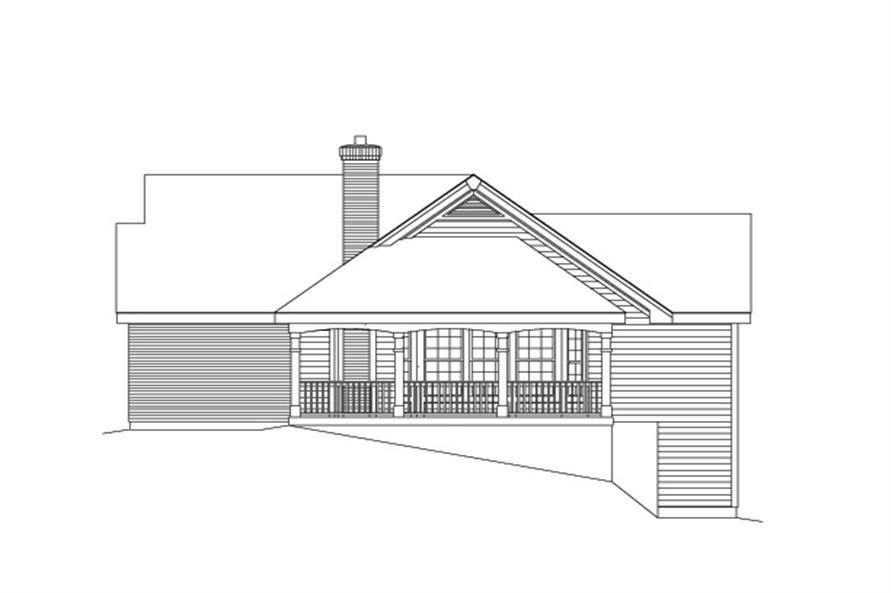 138-1091: Home Plan Right Elevation