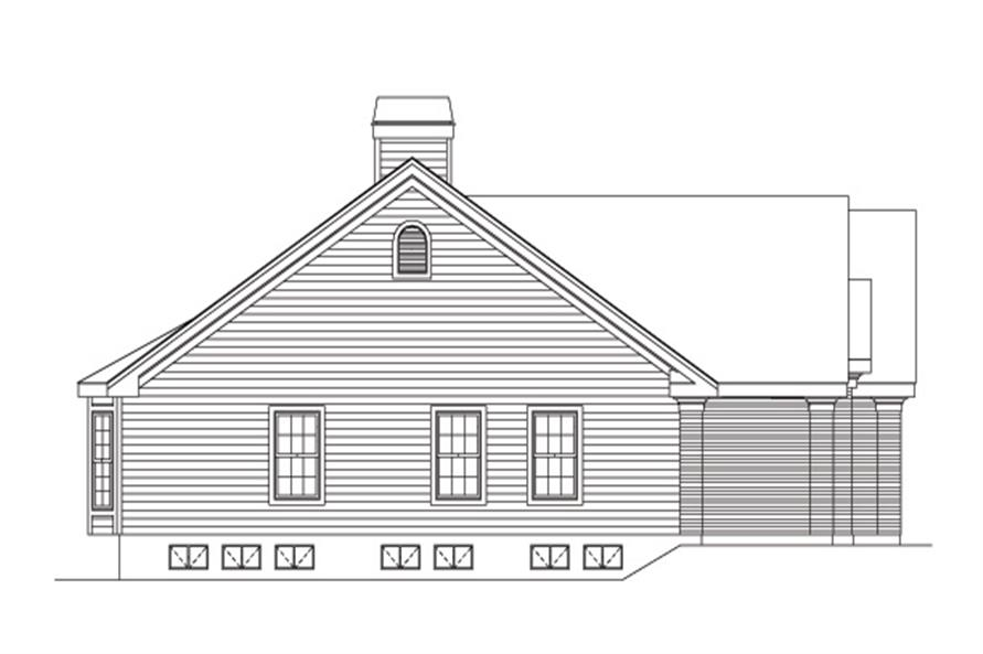 138-1093: Home Plan Left Elevation