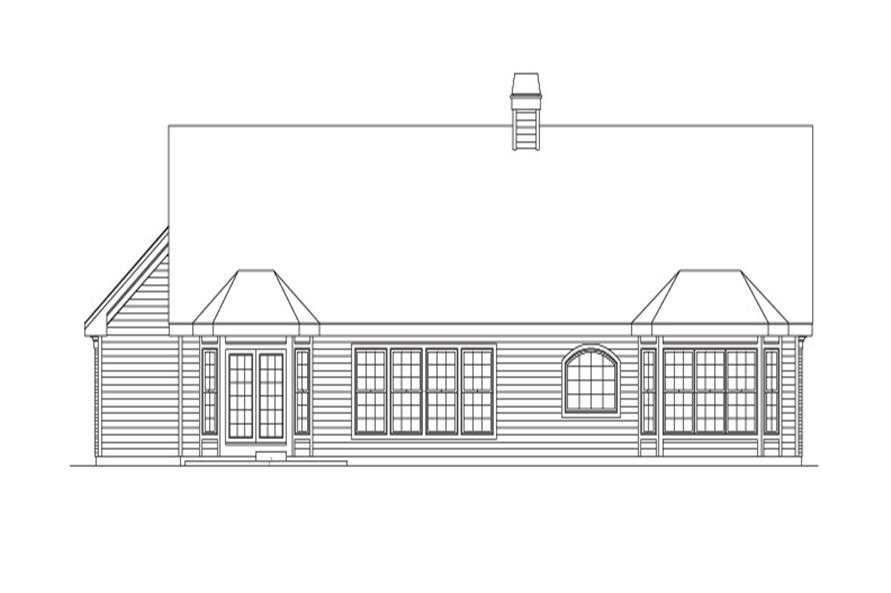 138-1093: Home Plan Rear Elevation