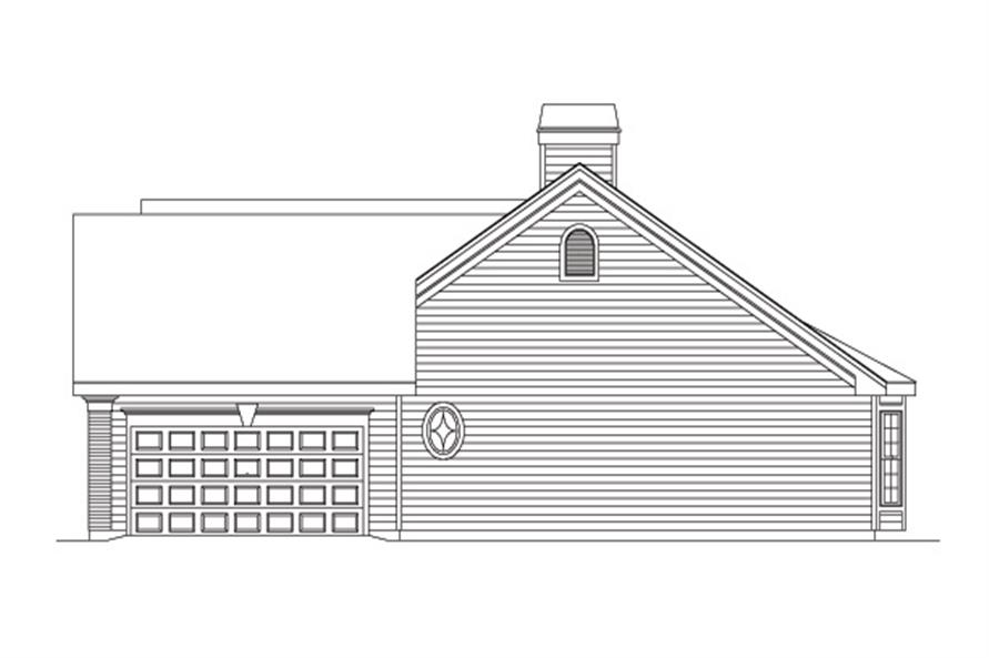 138-1093: Home Plan Right Elevation