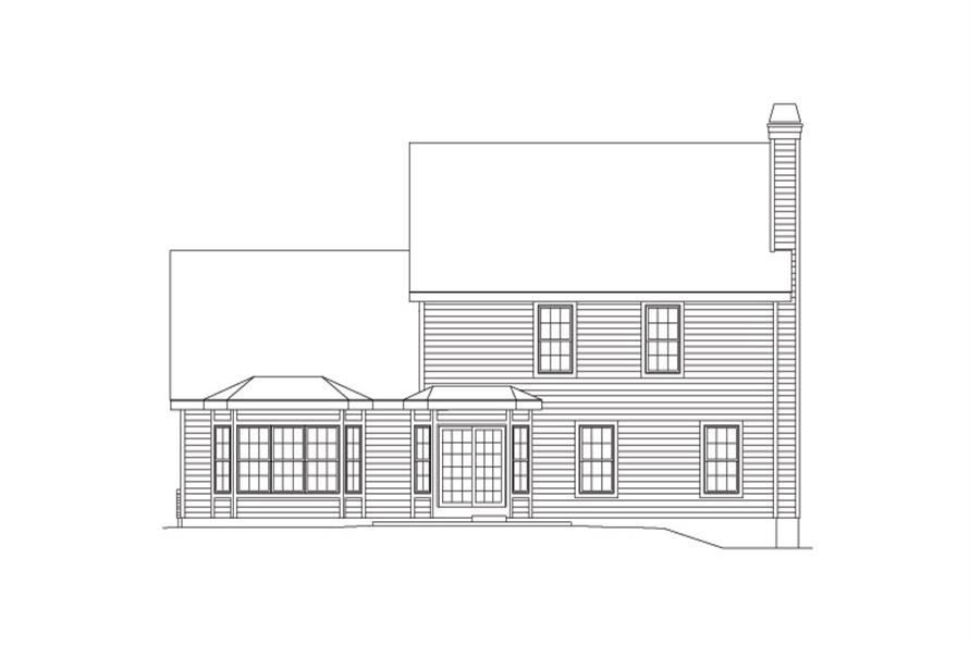 138-1094: Home Plan Rear Elevation