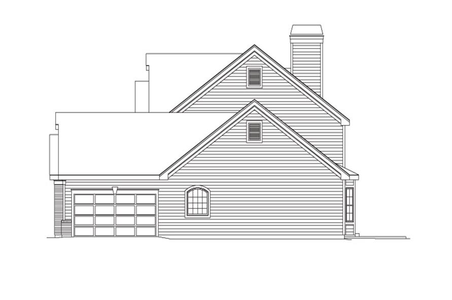 138-1094: Home Plan Right Elevation