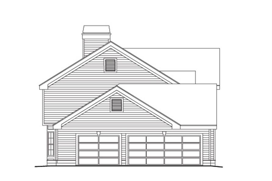 138-1095: Home Plan Left Elevation