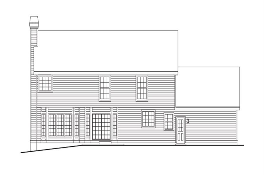 138-1095: Home Plan Rear Elevation