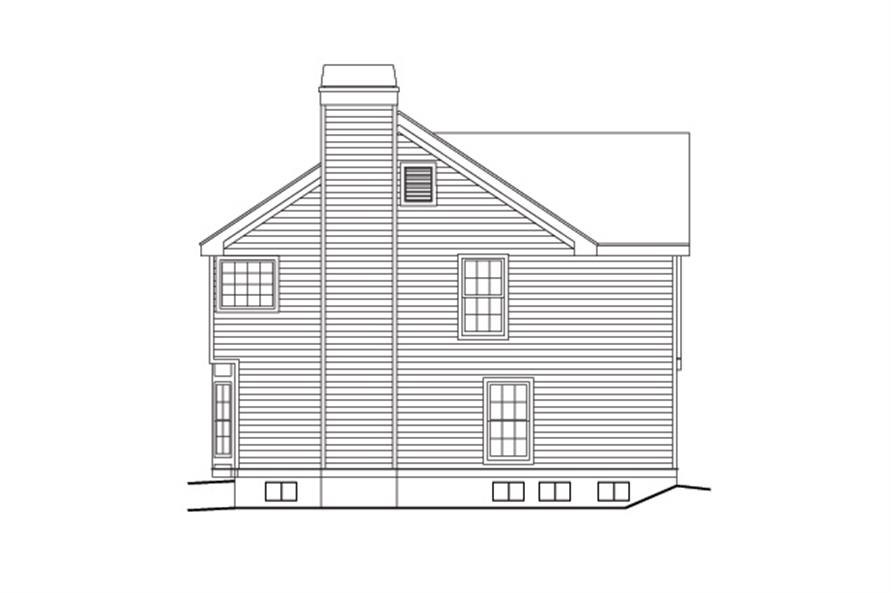 138-1095: Home Plan Right Elevation