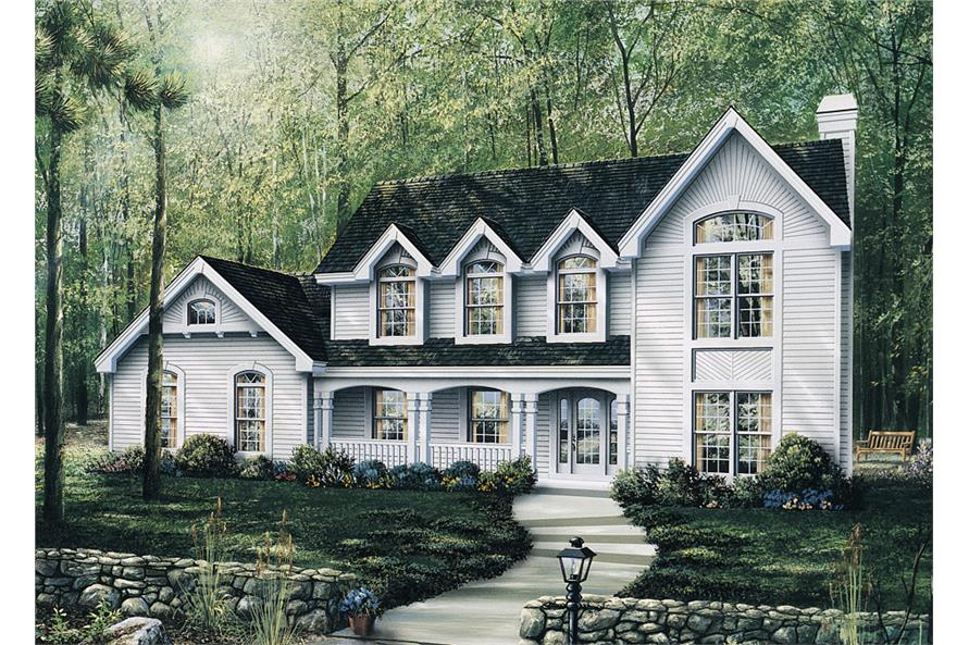 Front elevation of Traditional home (ThePlanCollection: House Plan #138-1095)