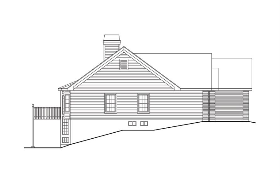 138-1096: Home Plan Left Elevation